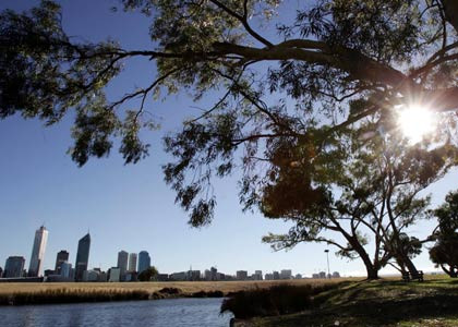 Perth kicks of winter with the sun still shining.