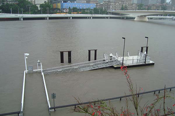 Southbank Flood Photos. Flooding at South Bank.