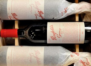 The 2006 Penfolds Grange has just been released, Nick from Dan Murphy's was getting it out of the box.