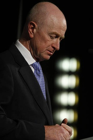 RBA governor Glenn Stevens won't be showing his hand on interest rates until Tuesday.