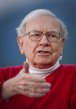 Warren Buffett, chairman of Berkshire Hathaway Inc., speaks during an interview on the sidelines of the Allen &amp; Co. Media and Technology Conference in Sun Valley, Idaho, U.S., on Friday, July 13, 2012. Buffett said Wells Fargo &amp; Co.'s dominance of U.S. home lending will pay off as the housing market rebounds. Photographer: Scott Eells/Bloomberg *** Local Caption *** Warren Buffett