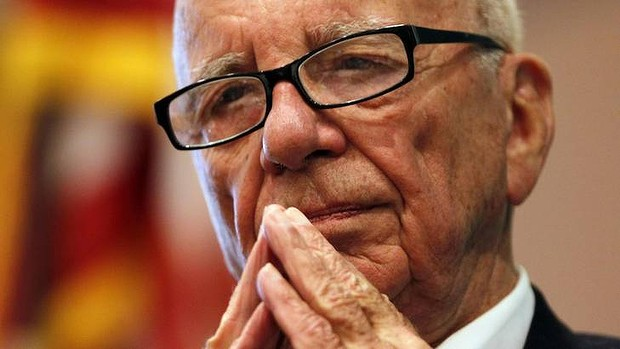 "News Corp Chairman and CEO Rupert Murdoch listens to a question at the ""The Economics and Politics of Immigration"" Forum in Boston, Massachusetts in this August 14, 2012 file photograph. Murdoch is keeping the News Corp name for his new publishing company in a nod to the important role that newspapers have played in building his media empire. News Corp announced details of the separation of the two companies on December 3, 2012, and confirmed that Robert Thomson will be chief executive of the new publishing company, effective Jan. 1..     REUTERS/Jessica Rinaldi/Files  (UNITED STATES - Tags: POLITICS BUSINESS MEDIA)"