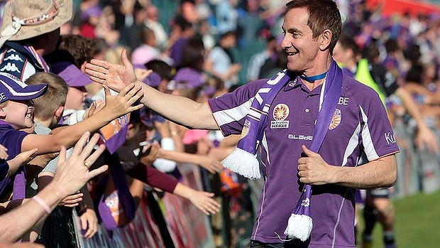 "Perth Glory owner Tony Sage wasn't this happy a camper on Wednesday, saying the club's chief executive Paul Kelly had resigned because of ""stadium frustration"" and labelling Harry Kewell's behaviour as ""embarrassing""."
