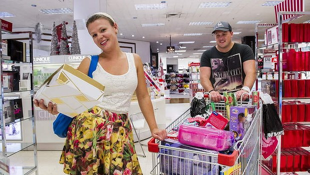 Canberrans getting some last-minute Christmas shopping in.