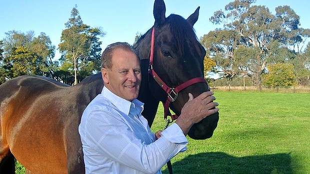 The Age businessman David Taylor with racehorse Black Caviar. Supplied image filed 18th Jan 2012