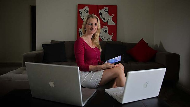 Jessica Hill, whose company, HSC Tutorials, provides online tutorials for Year 12 maths students.