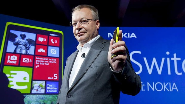 Smart move: Nokia chief executive Stephen Elop with the Windows-based Nokia Lumia which has helped revive the company.