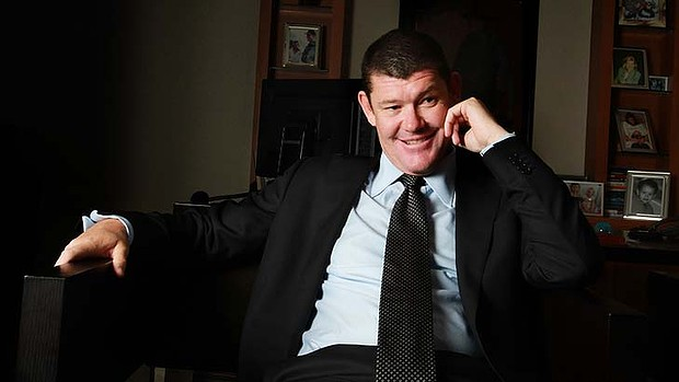 AFR 120731  photo by Louise Kennerley James Packer in his 1 park street office
